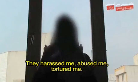 An anonymous Iranian woman describes how she was beaten