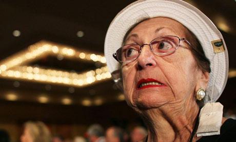 Tea party supporter at Republican debate
