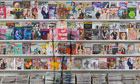 Magazine rack by Liu Bolin