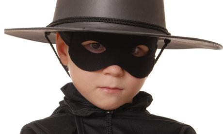 Child as masked cowboy