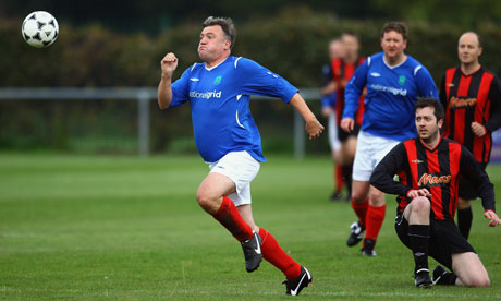 Ed Balls at Labour MP's v Press Lobby Party Conference football match