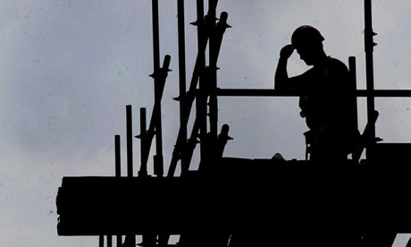 A construction worker on a building site.