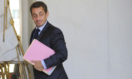 Nicolas Sarkozy at the Élysée palace