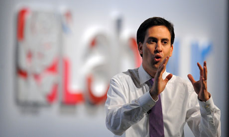 Ed Miliband at the Labour party conference 2011