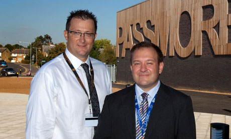 Headteacher Vic Goddard and deputy headteacher Stephen Drew