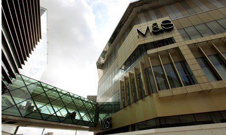 M&S Westfield shopping centre in Stratford, east London.