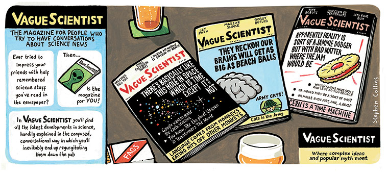 Stephen Collins: Stephen Collins: Vague scientist