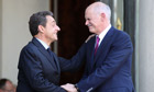 Nicolas Sarkozy and George Papandreou