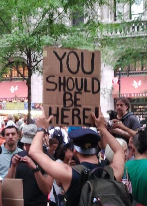 The Occupy Wall Street protesters march on Police Plaza