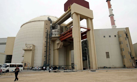 The reactor building of Iran's Bushehr nuclear power plant, 750 miles south of Tehran