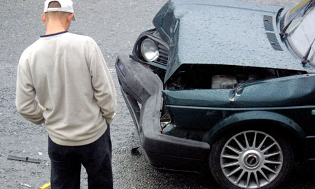 young male driver's accident