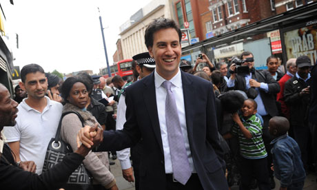 Ed Miliband on a visit to Lewisham