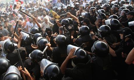 Mubarak trial demonstrators clash