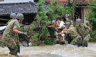 Typhoon Talas Hits Western Japan