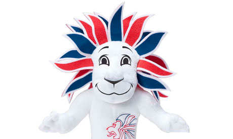 Pride the Lion Team GB mascot