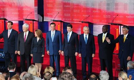 Republican presidential candidates at the Ronald Reagan Library in California