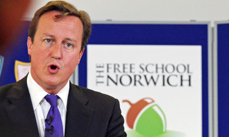 David Cameron speaks during a visit to the Free School Norwich