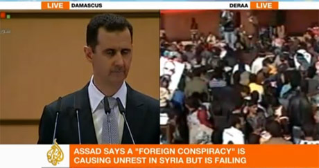 assad-split-screen