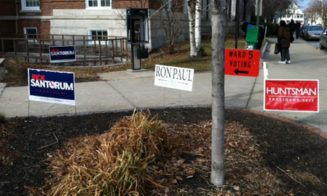 Polling venue in Concord, New Hampshire