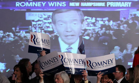 Mitt Romney victory party in New Hampshire