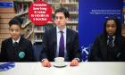 Ed Miliband meets pupils at Bethnal Green Academy, 10 January.