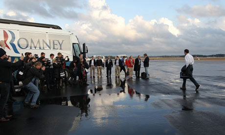 Mitt Romney arrives in South Carolina