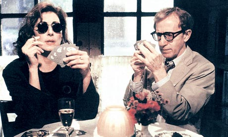 Anjelica Huston and Woody Allen in Manhattan Murder Mystery