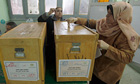 An Egyptian woman casts her vote during the final round of parliamentary elections