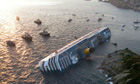 Italian cruise ship the Costa Concordia runs aground