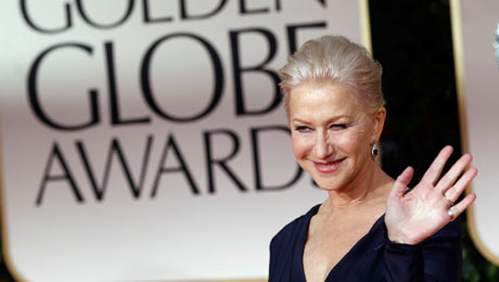 Helen Mirren at the Golden Globes