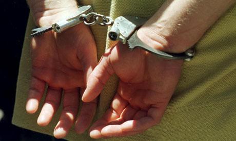 MAn in handcuffs