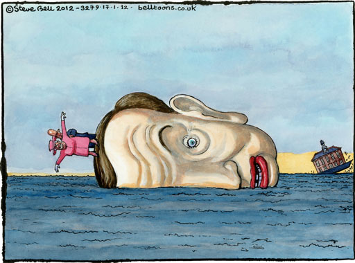 Steve Bell on Michael Gove's plans for the royal yacht