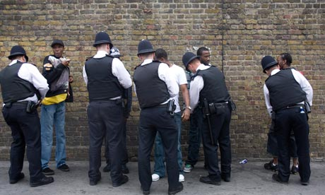 Police stop and search black youth