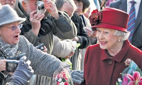 Queen Elizabeth II meeting the public in Liverpool last year