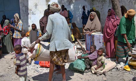 Displaced Somali's who fled the famine