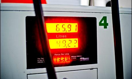 Petrol pump display