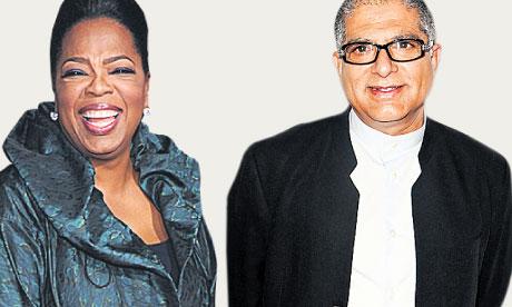 Oprah Winfrey and Deepak Chopra.