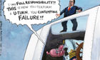 19.01.12: Steve Bell on David Cameron at prime minister's questions
