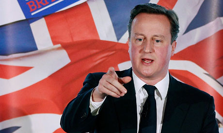 Britain's Prime Minister David Cameron speaks at New Zealand House in central London