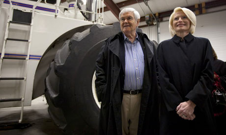 Newt and Callista Gingrich in Iowa