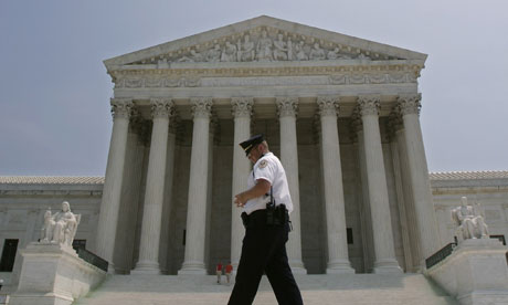 Police officer patrols outside US Supreme Court after Justice OConnor ...
