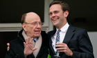 Rupert Murdoch and son James, who some say is 'shifting his thinking' after phone-hacking crisis