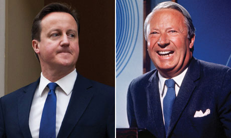 David Cameron and Edward Heath
