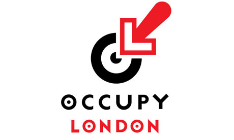 The Occupy London logo designed by Jonathan Barnbrook