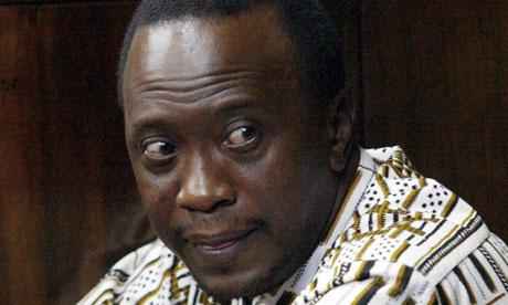 The Kenyan politician Uhuru Kenyatta, who is accused of crimes against humanity. Photograph: Sayyid Azim/AP