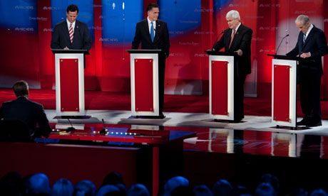 Republican presidential hopefuls take the stage for the NBC News debate