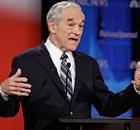 Ron Paul at the Republican debate in Florida