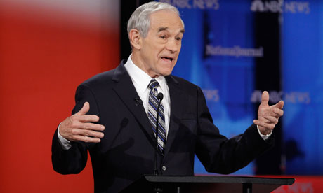 Ron Paul at the Republican debate in Florida
