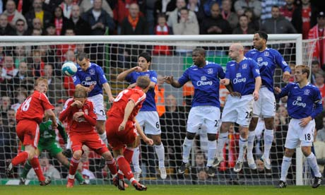 Liverpool v Everton, FA Premier League match, Anfield. Photograph: Tom ...
