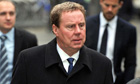 Football manager Harry Redknapp arrives at court in London where he is on trial for tax evasion